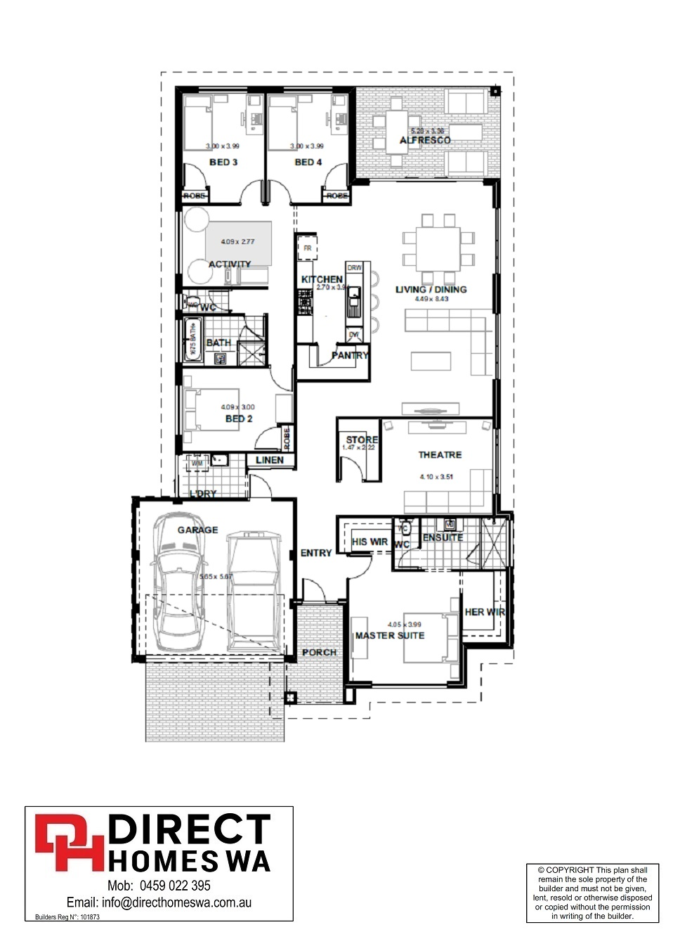 The Fiore Floor plan