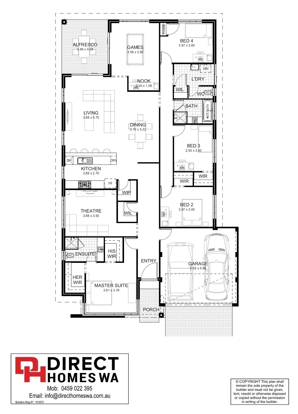 The Moscato Floor plan